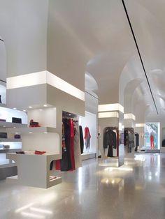 Alexander McQueen flagship store by Pentagram, Los Angeles store design