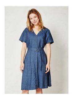 Organic cotton chambray dress, Braintree