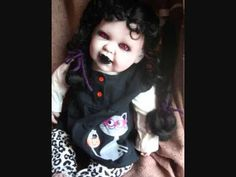 Doll made by Gravenbabies Scary Dolls, Haunted Dolls, Haunted Places, Diy Doll, Goth, Bump, Spaces, Night, Gothic