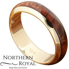 I love this 14K Solid Yellow Gold Wood Wedding Band. It makes a great his and her wedding ring set because they offer both width 8mm and 5mm. Oh and its made from real wood!