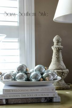Savvy Southern Style Christmas winter white bedroom