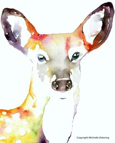 Deer Watercolor #deerwatercolor #deerpainting