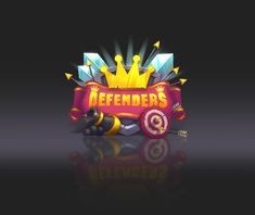 """Concept art and UI for tower defense """"Defenders"""" Game Gui, Game Icon, Cute Games, Mini Games, Victory Logo, Video Game Logos, Unity Games, Game Logo Design, Game Props"""