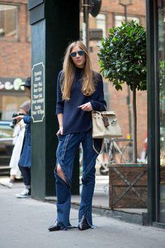 Best London Fashion Week Street Style Spring 2016 - London Street Style | @andwhatelse