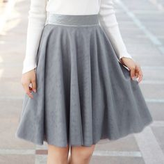 Ladylike Zipper Fly Candy Color Pleated Skirt For Women