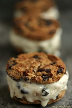 Cookie Dough Ice Cream Sandwiches  | Cravings of a Lunatic | Easy to make and wicked delicious!