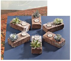 great ideas for the patio using bricks!