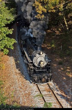 On the 3rd Annual Autumn Leaf Special double header, the 112 year old Ks-1 Class Southern Rwy 630 is doing the honor leading the Autumn Leaf Special with the Southern 4501 trailing on the former Central of Georgia's Chattanooga Rome & Columbus (CR&C) route to Summerville, GA. Both century old steam locomotive are hard at work pulling the 10 car passenger train up, and over Missionary Ridge one of the toughest grade on this section of railroad.