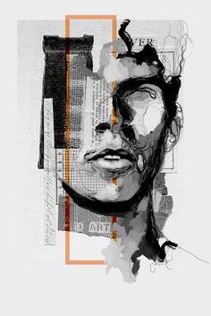 Graphic Design Posters, Graphic Design Inspiration, Graphic Art, Collage Kunst, Collage Art, Art Sketches, Art Drawings, Collage Design, Design Art