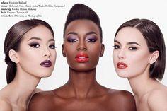 Photo : Frederic Roland Make-up : Wesley Hilton Makeup Modèles : Deborah Om, Mame-anta Wade, Héloise Heym Coiquaud Post Prod : D'Arcangela Photographie