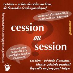 Cession ou session?