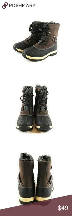 Bearpaw Nelly Waterproof Lace-up Winter Boots Thanks for checking out my closet. I take all my own pics. The boots are authentic and new in box. The boots have man made upper with wool blend lining and sheepskin footbed. BearPaw Shoes Winter & Rain Boots