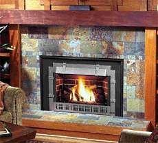slate tile on fireplace Touchdown Tile LLC a Minnesota tile
