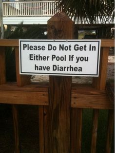 """Funny Sign: """"Then what is the point of having two pools"""" - Daniel Tosh you crack me up."""