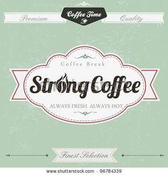 stock vector : Retro Vintage Coffee Background