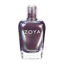 Zoya Nail Polish ZP283  Ki  Purple Nail Polish Metallic Nail Polish  Ki by Zoya can be best described as a complex multichromatic oil-slick shade combining silver, purple, blue and green in a shimmery metallic finish.