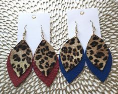 Items similar to Double Layer Stripes Leather Earrings, Double Layer Leather Earrings, Genuine Leather Earrings on Etsy Fabric Earrings, Leaf Earrings, Diy Earrings, Earrings Handmade, Leather Necklace, Leather Jewelry, Neutral Earrings, Glitter Canvas, Homemade Jewelry