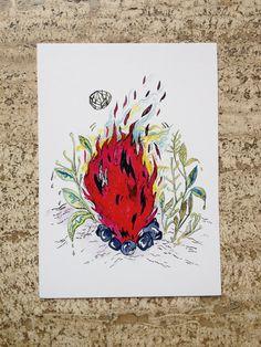 Cartolina fire di theberingsea su Etsy