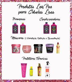 produtos LOW POO para cabelos lisos