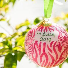 Lilly ornament - I want this!!