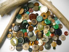 Vintage  buttons....Loved going through my Grandmother's button box as a child.  They were so beautiful~ pearls, rhinestones, colorful & petite.