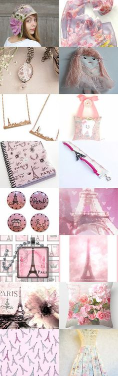 Travel to Paris in pink by Monika Pudzianowska on Etsy--Pinned with TreasuryPin.com