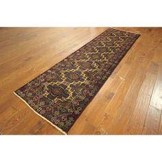 Manhattan Vegetable Dyed Tribal Runner Baluch Hand-knotted Oriental Area Rug
