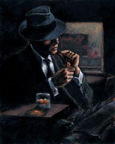 Study For Whiskey At Las Brujas Ii Artwork By Fabian Perez Oil Painting & Art Prints On Canvas For Sale Fabian Perez, Cigar Art, Smoke Art, Dark Photography, Chiaroscuro, Pulp Art, Fine Art, Vincent Van Gogh, Canvas Art Prints