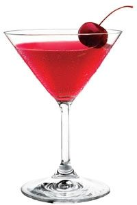 Cupid's Broken Arrow - 3 oz. Mango Vodka, ½ oz. Cointreau, 1 oz. Cranberry juice, Splash of Lime juice, 1 Cherry