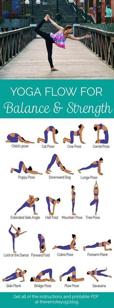 Yoga for Balance & Strength - Free PDF Download this sequence designed to increase muscle strength and increase balance. This is a great way to keep the abs toned!