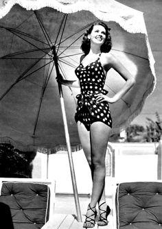 Polka Dot Swimsuit ♥ 1950's