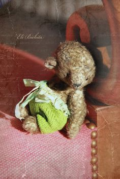 Little Bon Bon  Vintage style mini teddy bear