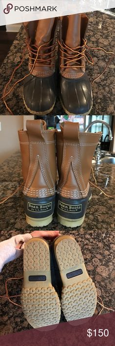 Authentic Bean Boots! Authentic Bean Boots in size 6M. These have been worn only twice and are in like new condition! L.L. Bean Shoes Winter & Rain Boots