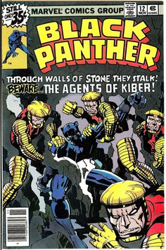 "Black Panther vol. 1 # 12, ""The Kiber Clue"" (November, 1978). Cover by Jack Kirby."