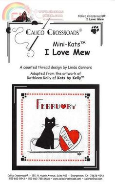 "Calico Crossroads Kats By Kelly - Mini Kats ""I Love Mew"" - February 2007"