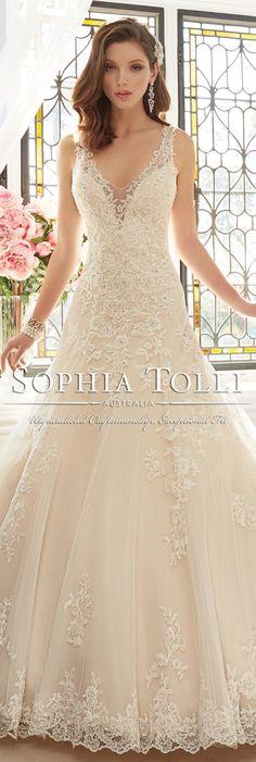 The Sophia Tolli Spring 2016 Wedding Dress Collection - Style No. Y11641 - Aricia #laceweddingdress