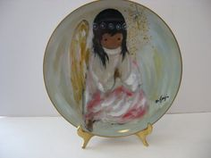 Vintage  DeGrazia Collector Plate  A Little by MiggysAtticThingies