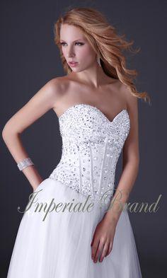 Rochie de mireasa printesa, corset din cristale