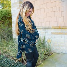 d2a8dc8df4a Boho Dandelion Swing Blouse - maternity friendly. Audrey   Olive. Maternity  Style ...