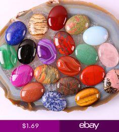cc9dc7019276 piedras trabajadas · Natural Gemstones Oval Cabochon CAB Loose Beads Stone  DIY Agate Jasper Turquoise