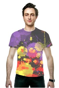 By Phyllis Braham, @OArtTee specializes in creating amazing, vibrant and colorful Wearable Art -Fun Colorful Paint Splash Explosion designer men's fashion tee shirt tops