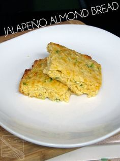 """(Primal) Jalapeno almond bread or as we call it """"Mexican Cornbread"""" but made with almond flour and leave out the canned corn. Low Carb, Paleo, Keto, and Atkins. Low Carb Bread, Keto Bread, Low Carb Keto, Diabetic Bread, Diabetic Menu, Cheese Bread, Mexican Cornbread, Jalapeno Cornbread, Cheesy Cornbread"""