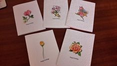 Handmade  Box set of Australian Floral Greeting & Gift Cards, include pen.