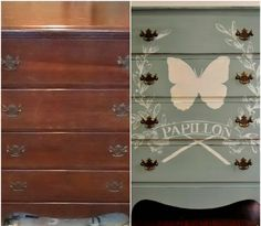 Sophia's: ASCP Duck Egg Blue - Butterfly Dresser Makeover