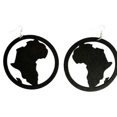 Lauryn Hill face Wood Hoop Cut Out Boucles d/'oreilles Urban afrocentric Ethnic Jewerly