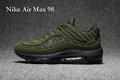 huge discount 991f2 60000 2017 Nike Air Max 98 Mens Shoes Dark Green Outlet New Release. Sneakers NikeSneakers  ModeHerrskorNike SkorTennisIdrottModeŠtýl