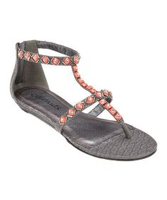 Take a look at this Charcoal Pan Sandal by Coconuts on #zulily today!
