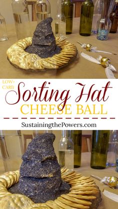 Potter Sorting Hat Cheese Ball A quick and fun Sorting Hat shaped cheese ball perfect for Halloween or a Harry Potter party!A quick and fun Sorting Hat shaped cheese ball perfect for Halloween or a Harry Potter party! Harry Potter Snacks, Baby Harry Potter, Baby Shower Harry Potter, Harry Potter Motto Party, Harry Potter Halloween Party, Harry Potter Sorting Hat, Theme Harry Potter, Harry Potter Christmas, Harry Potter Wedding