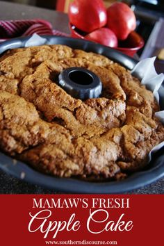 Mamaw's Fresh Apple Cake - Weekend Potluck Instant Pot Chicken Dumplings - Family Fresh Meals Apple Cake Recipes, Apple Desserts, Easy Cake Recipes, Mini Desserts, Fall Desserts, Dessert Recipes, Apple Cakes, Lemon Recipes, Apple Bundt Cake Recipes