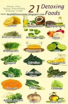 21 great foods for healthy detox!